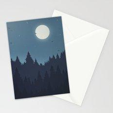 Tree Line - Blue Stationery Cards