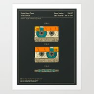 Art Print featuring CASSETTE TAPE (1991) by Jazzberry Blue