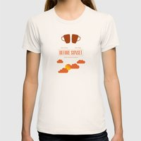 Before Sunset Womens Fitted Tee Natural SMALL
