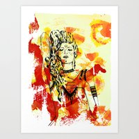 Tribal Beauty 2 Art Print