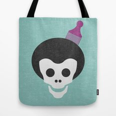 Skull with Fro. Tote Bag