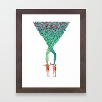 Some kind of nature inspired by Björk's music. Part 2. Framed Art Print
