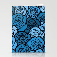 Stationery Cards featuring Romantic Blue Roses With… by Silvianna
