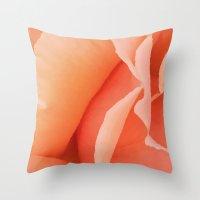 Painted Rose Petal Throw Pillow