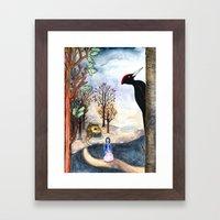 Black Woodpecker  Framed Art Print