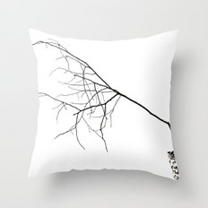 Barely Branches Mono Throw Pillow