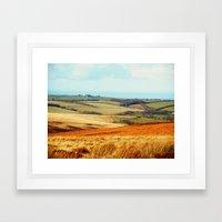 Landscape of Exmoor Framed Art Print