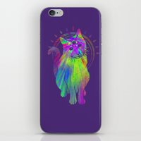 Psychedelic Psychic Cat iPhone & iPod Skin
