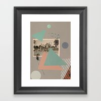 Boys On Bikes Framed Art Print