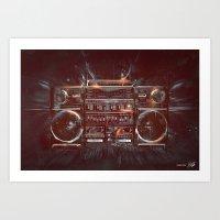 DARK RADIO Art Print
