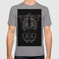 Skeleton #1 Mens Fitted Tee Athletic Grey SMALL