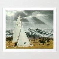 Sand Ship Art Print