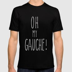 OMIGAUCHE! Mens Fitted Tee SMALL Black