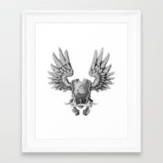 FF14 - Chocobo / materia coat of arms Framed Art Print