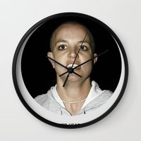 She Shaved Her Head For Our Sins Wall Clock