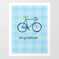 Bicyclelove, no. 2 Art Print