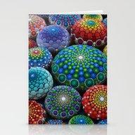 Jewel Drop Mandala Stone… Stationery Cards