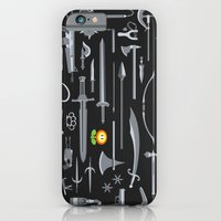iPhone Cases featuring Choose Your Weapon by David Soames