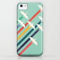 iPhone 5c Cases featuring The Cranes by Budi Kwan