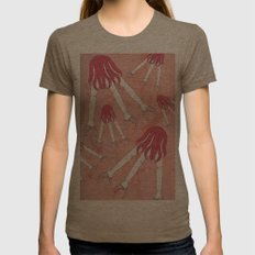 mechanic hands Womens Fitted Tee Tri-Coffee SMALL