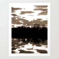halloween sunrise Art Print
