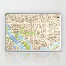 Washington DC watercolor city map Laptop & iPad Skin