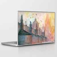 Laptop & iPad Skin featuring Charles Bridge, Prague by Jane-Beata