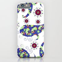 iPhone Cases featuring Blue Paisley #4 by luizavictorya72