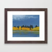 Jumbo Lake In The Fall 2… Framed Art Print