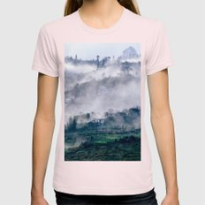 Foggy Mountains - Sa Pa … Womens Fitted Tee Light Pink SMALL