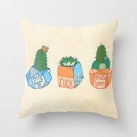 Fuck-You-llents Throw Pillow