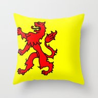 Flag Of South Holland Throw Pillow
