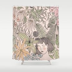 Alone in the Flowers Shower Curtain