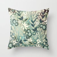 Detailed Square Of Green… Throw Pillow