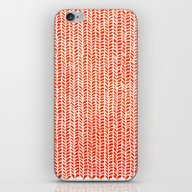 iPhone & iPod Skin featuring Stockinette Orange by Elisa Sandoval