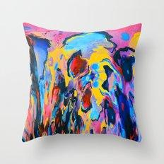 Sunset Oil Throw Pillow