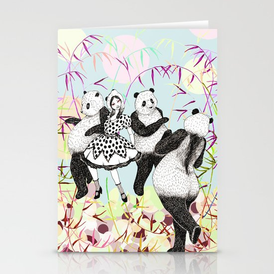 Panda Dance Stationery Card