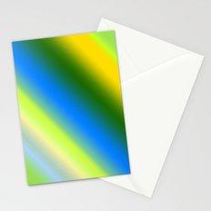 Lemon & Lime Stripes Stationery Cards