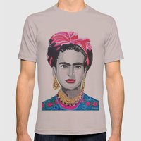 Frida Kahlo By Paola Gon… Mens Fitted Tee Cinder SMALL