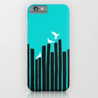 iPhone & iPod Case featuring Birds on the fence by Budi Kwan