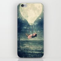 Moon Reverie over Paris iPhone & iPod Skin