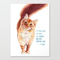 If You Died Canvas Print