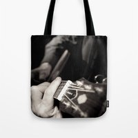 Playing The Guitar Tote Bag