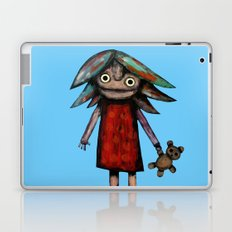 Girl vith teddy bear Laptop & iPad Skin