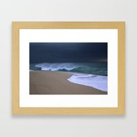 The perfect storm. Framed Art Print
