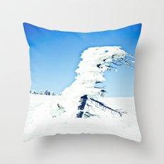 Snow Blown Throw Pillow