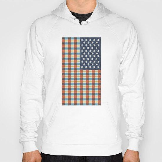 Plaid Flag. Hoody