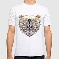 Floral Bear Mens Fitted Tee Ash Grey SMALL