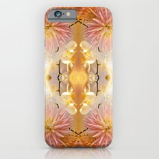 Dahlias and Orchids flowers in reflect iPhone 6s Slim Case