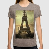 Mon Paris - La Tour Eiff… Womens Fitted Tee Tri-Coffee SMALL
